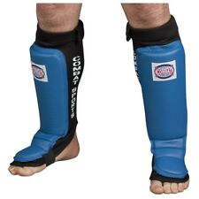 Combat Sports Grappling MMA Shin Instep Guards - Blue