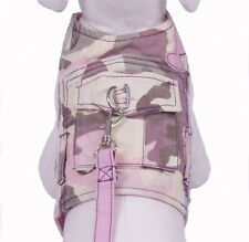 Cha Cha Couture Pink Camo Dog Harness Vest with matching leash (Choose Size)