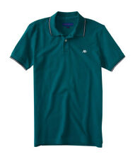 aeropostale mens a87 solid tipped pique polo shirt