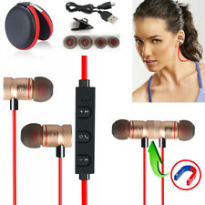Red ZH56 Magnetic Bluetooth Handsfree Headset Earphone For Cell Phone Sony /Moto