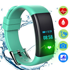 Bluetooth Sport Smart Watch Blood Pressure Heart Rate Monitor For Android IOS