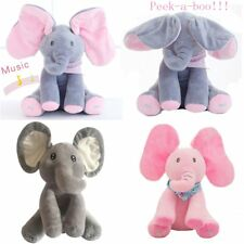Peek-a-boo Elephant Baby Plush Toy Cute Singing Stuffed Animated Kids Soft Gift