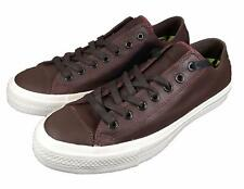 Converse Chuck II by John Varvatos CTAS OX Coated Leather Sneaker BROWN 153896C