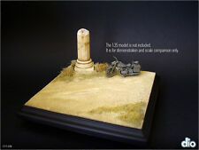 Built & Painted Diorama Base (17x17cm), 1:35  Ancient Ruined Column in Desert