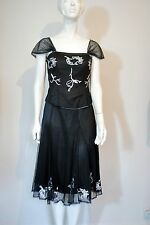 KATE COOPER - BLACK EMBROIDERED TOP & SKIRT.  SIZE 10-16  RRP Top £93 Skirt £101