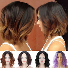 Hot Ombre Wig Lace Front Wigs For Women Silk Straight Curly Wave Synthetic Hair