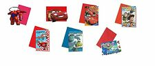 6 Party INVITATIONS (With Envelopes) DISNEY PIXAR Designs (Party/Kids/Birthday)