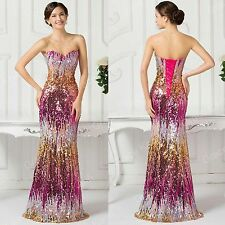 Women Formal Long Prom Strapless Evening Party Cocktail Bridesmaid Wedding Dress