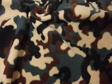 QUALITY CAMOUFLAGE Printed Anti Pil Polar Fleece Fabric Material - GREEN