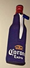 Corona Brewery Extra Beer Bottle Zipper Koozie Cooler Insulator Breweriana