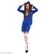 2017 Hot Sale Halloween Horror Bloody Airline Stewardess Clothes Cosplay Costume