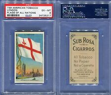 1911 T59 AMERICAN TOBACCO FLAGS OF ALL NATIONS LONDON PSA 6 (5217)