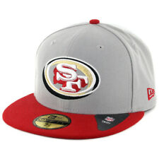 "New Era 59Fifty San Francisco 49ers ""Neon Logo Pop"" Fitted Hat (Grey/Red) Cap"
