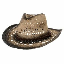 WITHMOONS Western Cowboy Hat Cool Paper Straw Banded Chin Strap GN8765