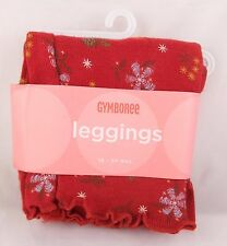 MOUNTAIN CABIN Red GYMBOREE Floral PINECONES Leggings 3-6-12-18-24-2T NWT~NWOT
