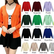 Women Cardigan Button Down Warm Long Sleeve Knitted Sweater Coat Outwear C9H7