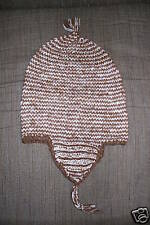 Brand New PERU Earflap Hat CHULLO 100% ALPACA Ski Snowboard natural colors
