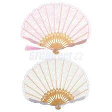 Handmade Lace Trim Bamboo Folding Hand Chinese Fan Dance Party Supplies DIY