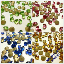SS8 Rhinestones Point back Crystal Glass Chatons Nail Art 2.3mm 2880ps C1