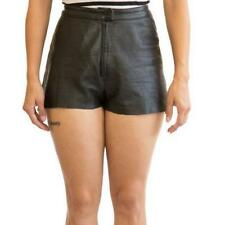 Sylvia Leather Shorts - Made with Soft Lambskin Leather in As Shown