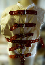 Suede lether strap straight jacket -Custom made with lots of options!