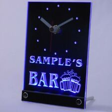 tncw-tm Personalized Custom Home Bar Beer Mugs Cheers Neon Led Table Clock