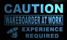 m632-b Caution Wake boarder at Work Neon Light Sign
