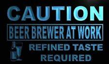 m544-b Caution Beer Brewer at Work Neon Light Sign