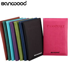Fashion Faux Leather Travel Passport Holder Cover ID Card Bag Passport Wallet !!