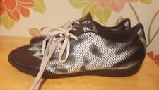 ADIDAS Black Silver White Astro Sole Football Boots Mens Trainers Vgc Size 9