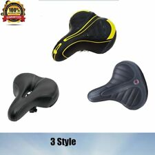 3 STYLE BICYCLE SADDLE SEAT BIKE COMFORT SPORTY CYCLING SOFT PAD WIDE BIG BUM UK