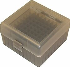 MTM 100 Round Rifle Ammo Box 17 204 223 5 56x45 6x47 Durable Plastic Ammunition