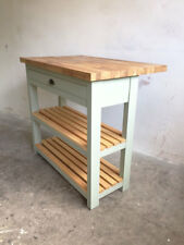 Monmouth Butchers Block Kitchen Island Solid Wood With Oak Breakfast bar