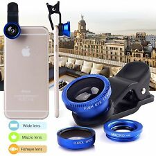 3 in1 Fish Eye + Wide Angle + Macro Camera Clip-on Lens for Universal Cell Phone