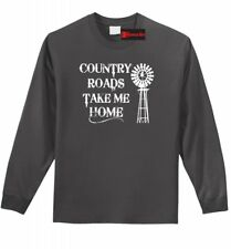 Country Roads Take Me Home Long Sleeve T Shirt Country Music Graphic Tee Z1