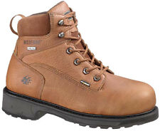 "Wolverine Mens Durashock SR Lace Up Steel Toe 6"" Work Boots"