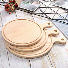15cm-30cm Round Wooden Board Pizza Serving Tray Kitchen Plate Dinner Dish
