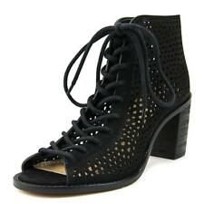 Vince Camuto Tulina Women  Open-Toe Suede Black Ankle Boot