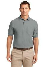 Port Authority Mens Silk Touch Polo with Pocket Casual Pocket Golf Shirt K500P