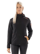 CMP Softshell Functional Jacket ZipHoodie Black Windproof Stretch