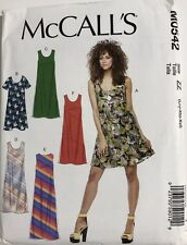 0542 UNCUT McCall's Pattern Misses (XS S M) (L XL XXL) 4-26 Bias Pullover Dress