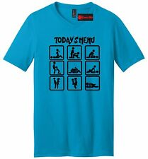 Today's Menu Sex Positions Funny Mens V-Neck T Shirt Adult Humor Sex Graphic Tee