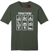Today's Menu Sex Positions Funny Mens Sft T Shirt Adult Humor Sex Graphic Tee Z2