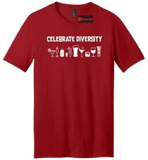 Celebrate Diversity Funny Mens V-Neck T Shirt Alcohol Party Martini Beer Tee