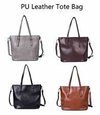 Ladies Tote Bag Shoulder Bag PU Leather Bag Big Capacity Handbag Fashion Satchel