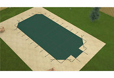 Loop Loc® Grecian GREEN MESH Swimming Pool Winter Pool Safety Cover w/ Step