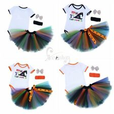 Toddler Baby Girl My First Halloween Tutu Skirt Top Set Romper Bodysuit Outfits