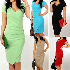 Women's OL Formal Business Work Stretch Cocktail Party Evening Slim Pencil Dress