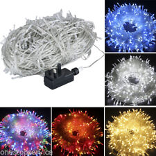 Waterproof 50-100M 250/500LED Christmas Tree Fairy String Xmas Party Lights Lamp