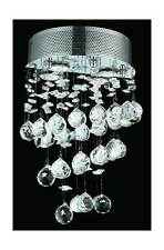 Galaxy Clear Crystal Sconce w 2 Lights in Chrome [ID 963464]